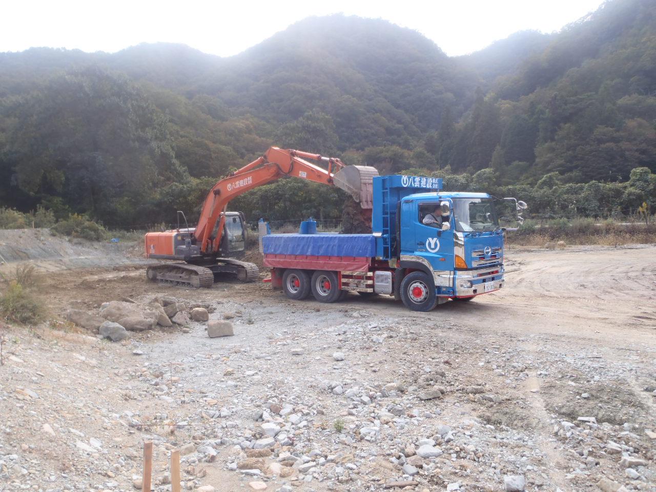 武庫川遊水地掘削工事
